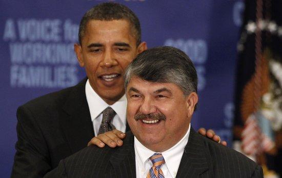 Trumka and Obama