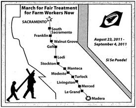 UFW march map