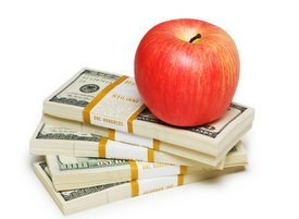 apple on money