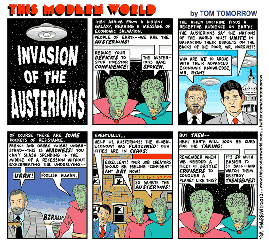 Tom Tomorrow cartoon about austerity