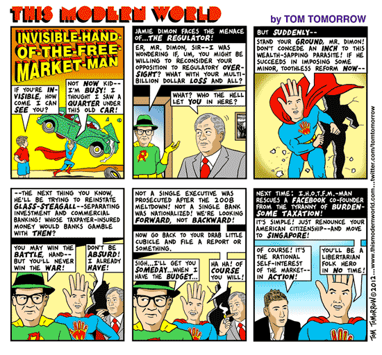 Tom Tomorrow cartoon about Jamie Dimon