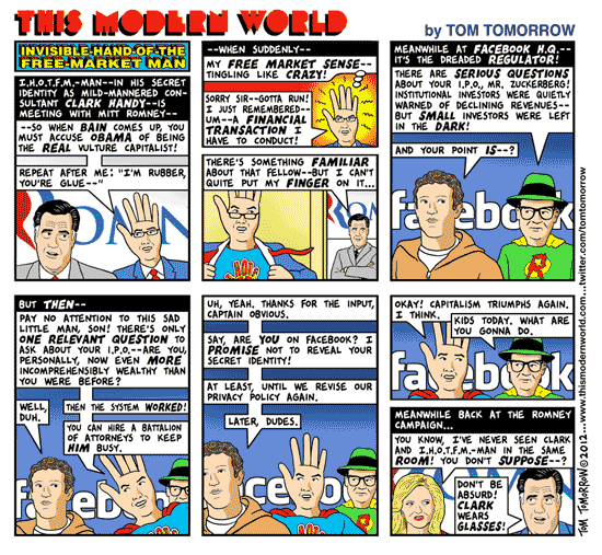 Tom Tomorrow cartoon about Facebook IPO