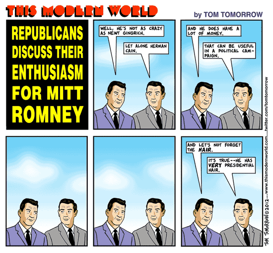 Tom Tomorrow cartoon about Romney voters