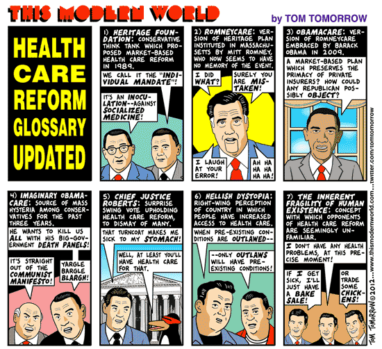 Tom Tomorrow cartoon about Lisa Brown