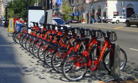 Capital Bikeshare bike pod