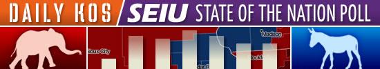 Daily Kos-SEIU polling banner