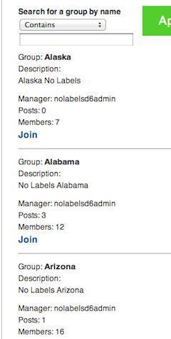 No Labels web screenshot