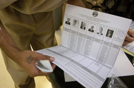GOP presidential primary ballot