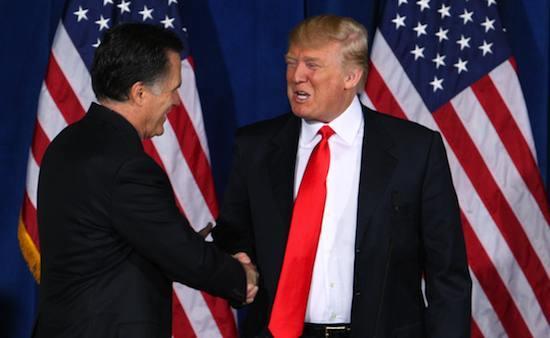 Donald Trump gives Mitt Romney his endorsement