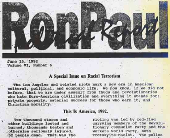 Ron Paul Newsletter scan