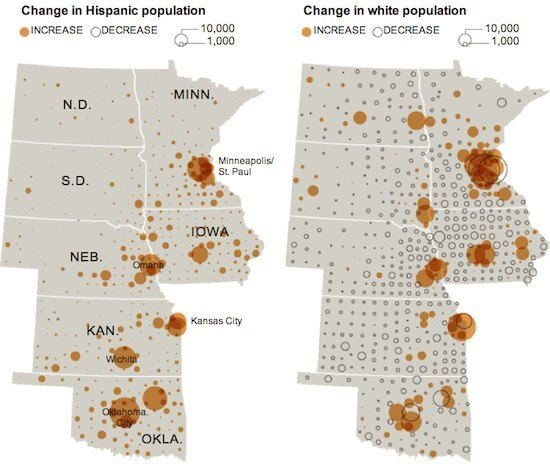 maps demographic changes