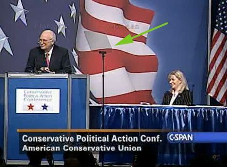 Dick Cheney reading teleprompter