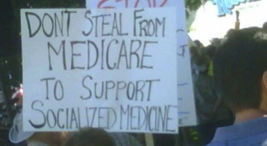 Don't steal medicare to support socialized medicine.