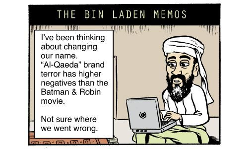 Cartoon by Matt Bors - The Bin Laden memos