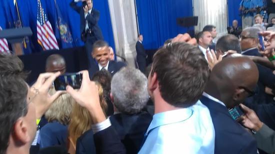 (Adam B and President Obama)