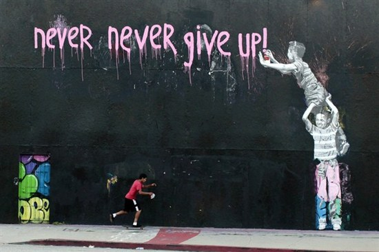 Los Angeles mural by graffiti artists Cope2 and Mr. Brainwash (Photo by Reuters/Lucy Nicholson)