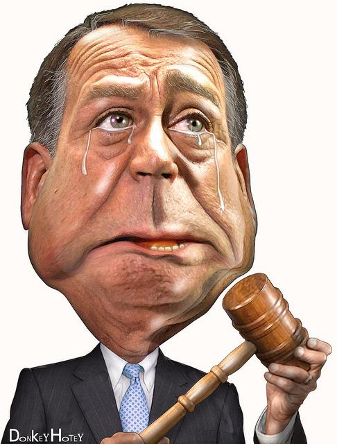 caricature of John Boehner