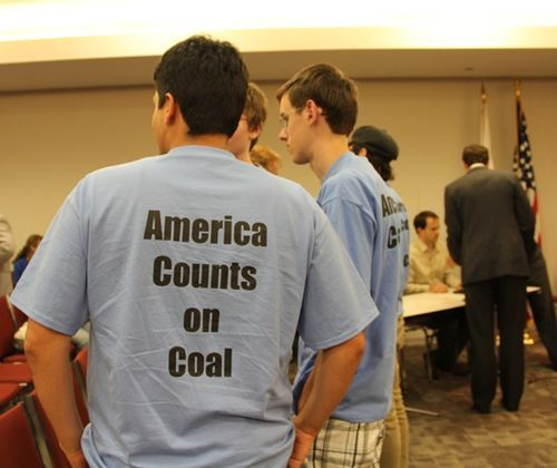 T-shirt in support of coal