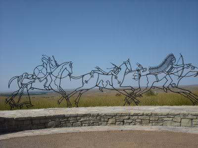 photo of Indian Memorial at Little Big Horn