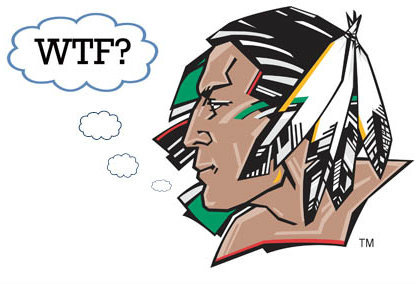 Fighting Sioux logo saying