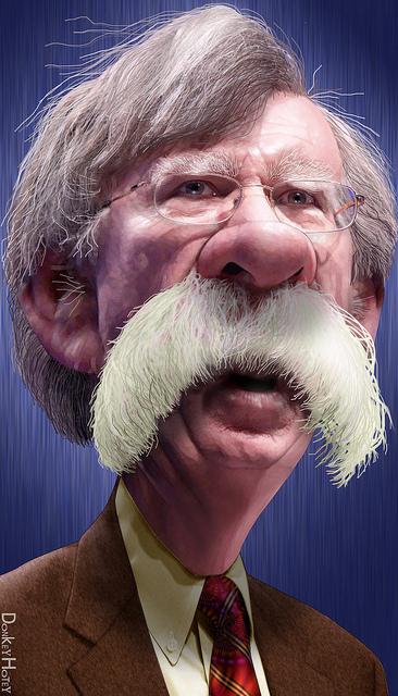 John Bolton caricature