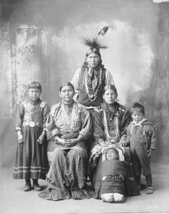 A Kickapoo family photo taken  in 1898 by Rinehart