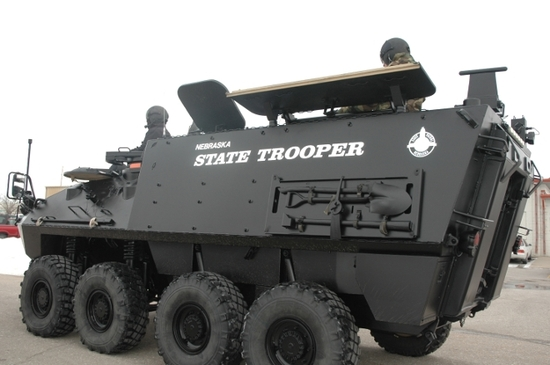 The Nebraska State Patrol Light Armored Vehicle LAV 150.