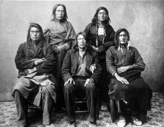 Nez Perce photographed after their capture in 1877