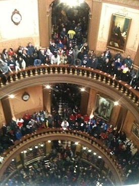 activists in MI capitol