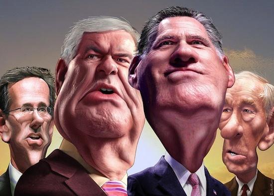 GOP candidates caricature