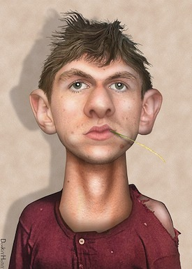 O'Keefe caricature