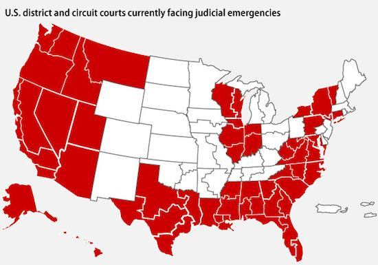 judicial emergency map