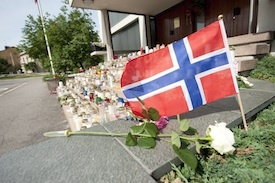 Norwegian flag, memorial