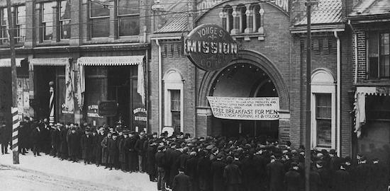 Food line during Great Depression