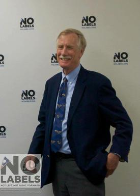 Angus King at No Labels event