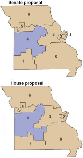 Competing Missouri maps