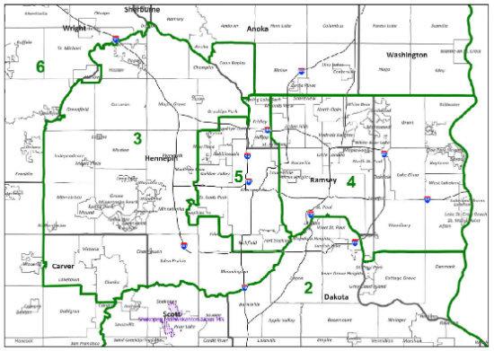 MN congressional map (metro area)
