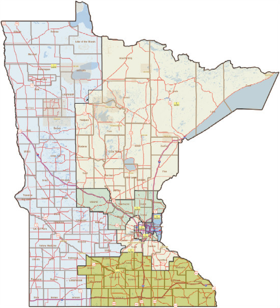 MN Democratic redistricting proposal
