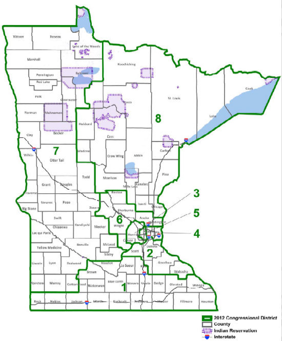 MN congressional map