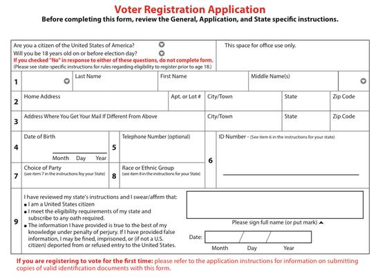 National_Mail_Voter_Registration_Form Voter Registration Application Form on voter registration deadlines, voter registration background, voter registration transcript, voter registration card a form, voter registration training,