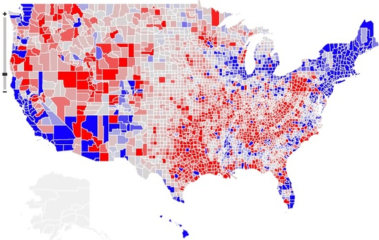 democrats are from cities republicans are from exurbs