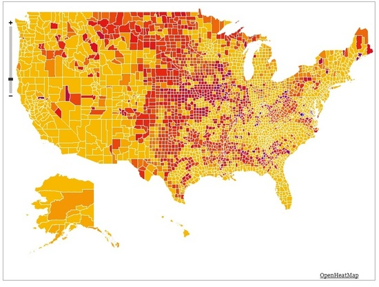 When Did Your County S Population Peak This Map Shows You