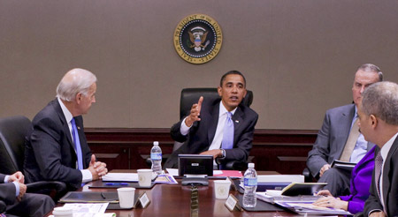 President Obama With Advisers